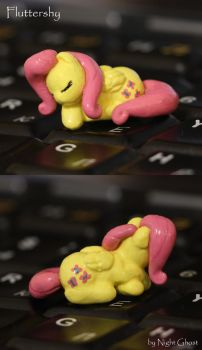 Tiny Fluttershy - spin by NightGhost-creations
