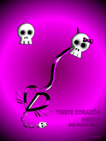 triste corazon negro -black sad heart- by portadorX