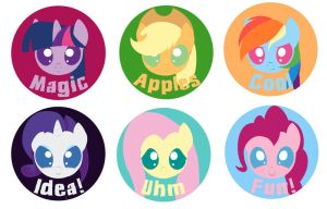 Chibi buttons with text by Neko-me