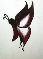Bleeding Butterfly by mydeviousmind