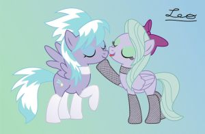 Cloudchaser and Flitter loving... by leopurofriki