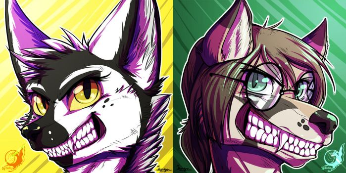 Fenique and Fritz Icons by taalaruhun