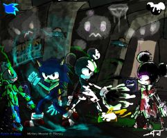 Epic Mickey and Sonic-battle by ArtisticWarrior0