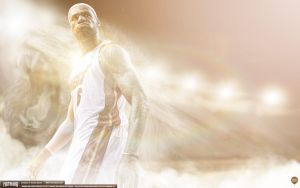 LeBron James 2013 Champion Wallpaper by Angelmaker666