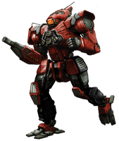 MWO Wolfhound repaint 'Grinner' by Odanan