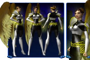 City of Heroes Nike Sheet by MorgensternX