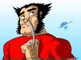 WOLVERINE NOSE-PICKING by bonisol