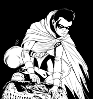 Damian Wayne as Robin by Scorch-Art