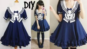 DIY Easy Navy Sailor Dress by YumiKing
