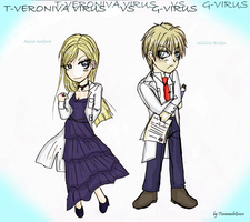 T-Veronica virus vs G-virus by FiammahGrace