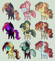 9 Pony Adoptables #32 [CLOSED] by wallabean