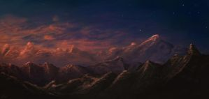 Slumbering Mountains by SomberNocturna