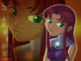 Starfire Wallpaper by Blue-Ten
