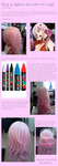 How to lighten a wig by Rirukuo
