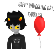Karkat's wriggling day! by Flaamez