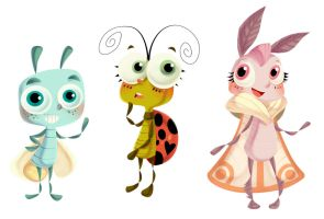 Bug Band Character Designs by ehllychan