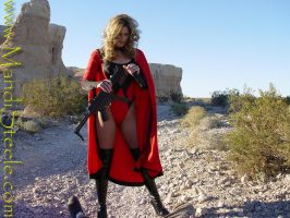 superheroine destroys rifle by ilikesuperwomens