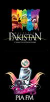 PIA Radio and Majestic Pakistan logo by creavity