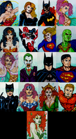 Artist Cards for Kids. DC Comics Wave #1 by Medusa1893