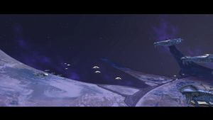 HALO 3 SPACE BATTLE SCENE TWO by victortky