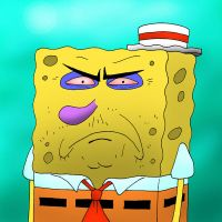 Spongebob wasted by kilroyart