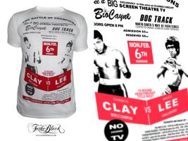 Muhammad Ali vs Bruce Lee Tee by troostar