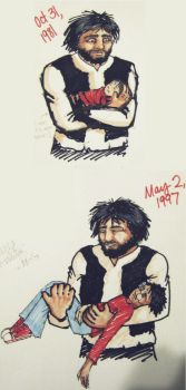 Harry and Hagrid Doodles by Chemartist