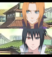Sasuke and Sawaii Back with me to the village by Sarah927