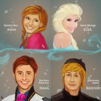 Frozen cast! by blueisocean