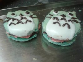 WOOT TOTORO MACARONS~ by otakujeanette