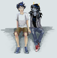Homestuck - Vriska and John by MissCaltra