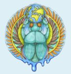 Earth Creation Scarab by ImogenSmid