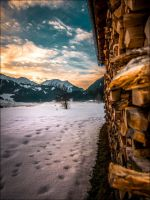 Sunset in the Alps by Nikitia1979