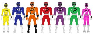 Action Heroes Wave 1: Ressha Sentai ToQger by Axusho