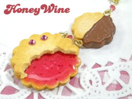 Jam and Chocolate cookies by rriee