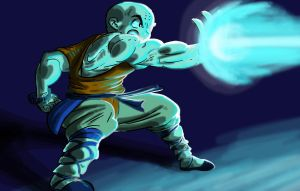 Krillin Redesign in Action by SirGryphon