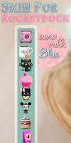 Skin For rocketdock:Aero Milk Blue by DaniaPeaceeLovee
