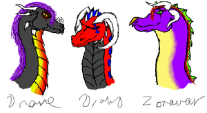 My Dragon Characters by DraveDragonheart
