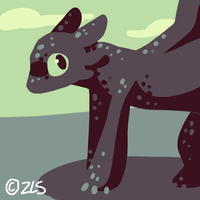 Toothless by liighty