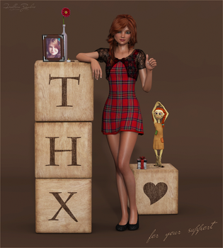 Thx for your support by Frollein-Zombie