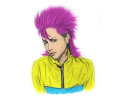 hide from X Japan band - Portrait by Leniia