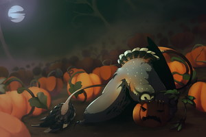 Pumpkin munching by Unikeko