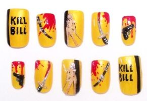 Kill Bill nails by The-Lady-of-Kuo
