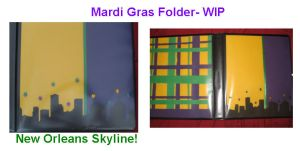 mardi gras binder wip by Schismatic-Sha