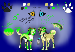 Derco and Neon Puppies by YukiAlecCross28