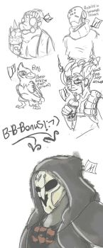 Overwatch Sketches  by CrazyIsBack