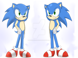Sonic Shading Style Practice by MistrissTheHedgehog