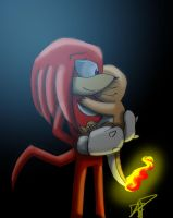 Knuckles and Charmander by payero01