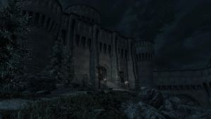 Fort Dawnguard at night. by 62guy
