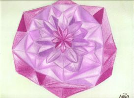 Geometric flower-colour pencils practice1 by Paty-Longbottom21